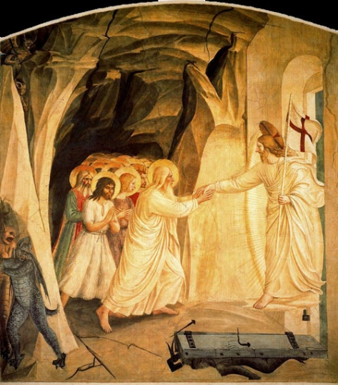 fra angélico-descenso de jesús al limbo o búsqueda de adán