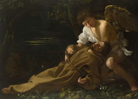 caravaggio-san francisco en éxtasis