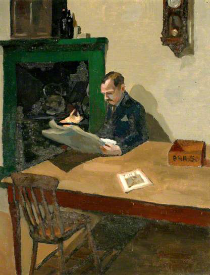 douglas frederick pittuck-hombre con un periódico
