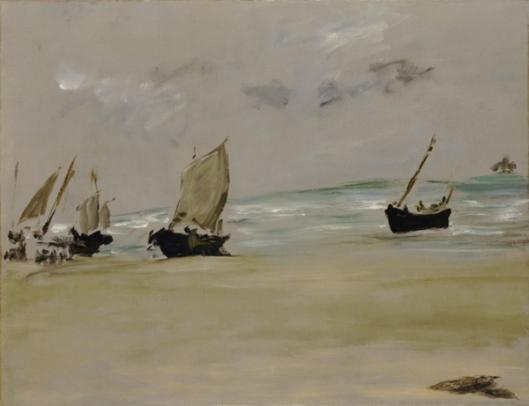 edouard manet-la playa en berck
