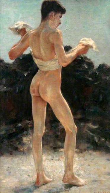 henry de scott tuke-después del baño