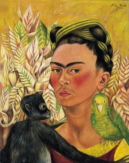 frida kahlo-autorretrato con mono