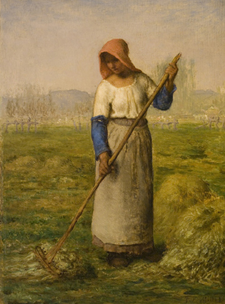 jean francois millet-una muchacha campesina