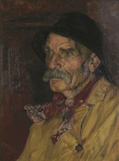 edward potthast-retrato de un pescador