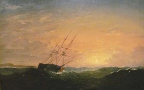 fitz henry lane-un mar agitado