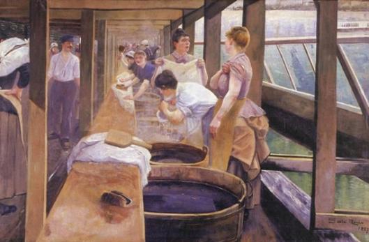 andrés de santa maría-el lavadero sobre el río sena
