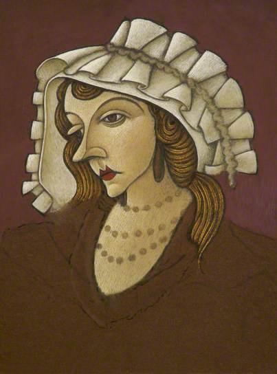 john dowton-mujer con un sombrero de flandes