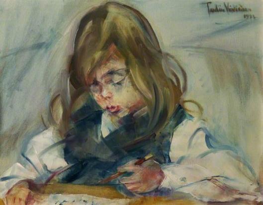 pauline vivienne-un niño con un lápiz