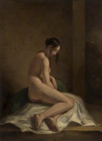 william etty-estudio de un desnudo femenino