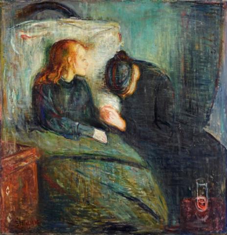 edvard munch-la niña enferma