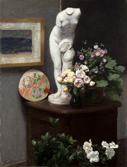 henri fantin-latour-naturaleza muerta con torso y flores