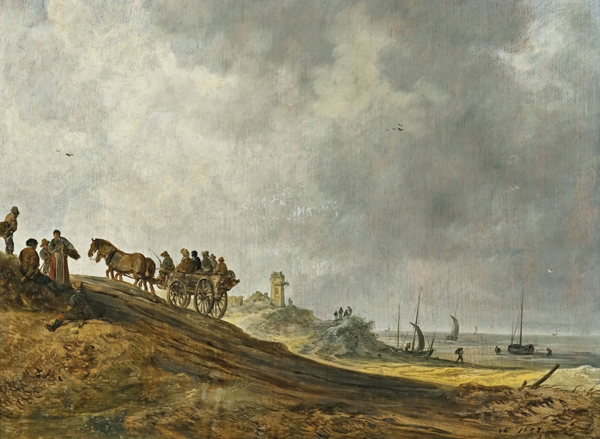 jan van goyen-escena de playa