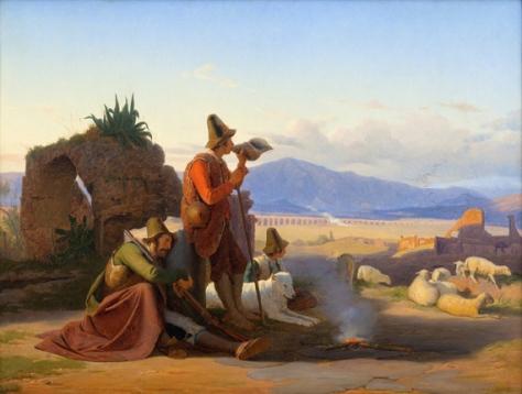 jorgen somner-pastores en la campiña romana