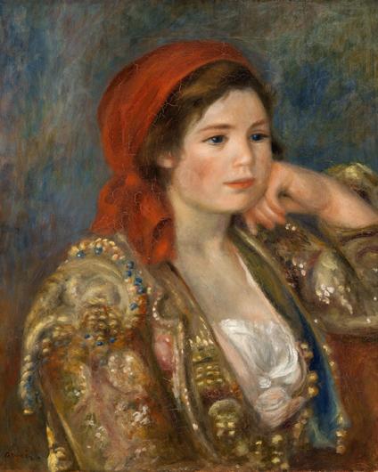 pierre auguste renoir-chica con una chaqueta española