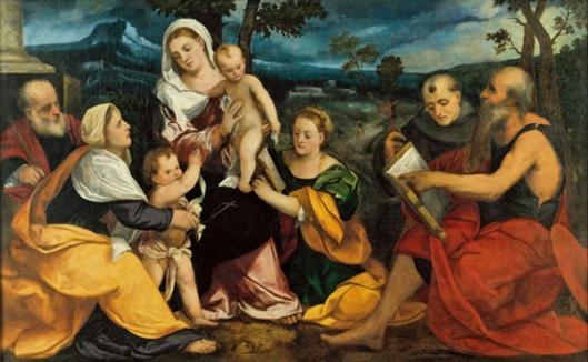 veronese-la sagrada familia con santos