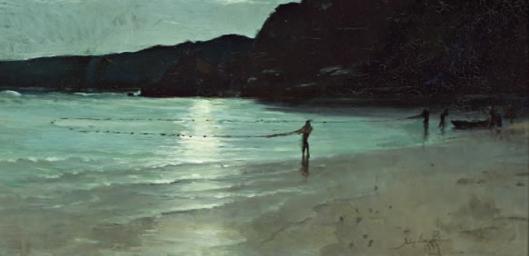 john-ford-paterson-la-pesca-en-la-bahía-en-la-luz-de-luna