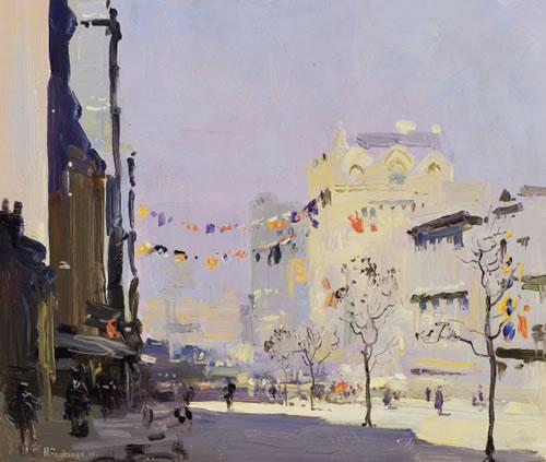 penleigh boyd-queen street durante la visita del príncipe