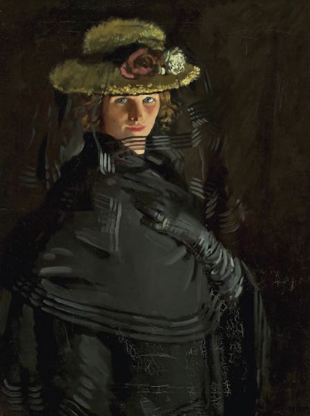 william orpen-retrato de grace