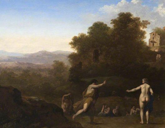 cornelis von poelenburgh-paisaje con figuras mitológicas