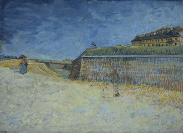 vincent van gogh-las fortificaciones de parís con casas