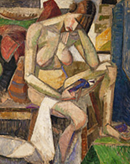 albert gleizes desnudo sentado