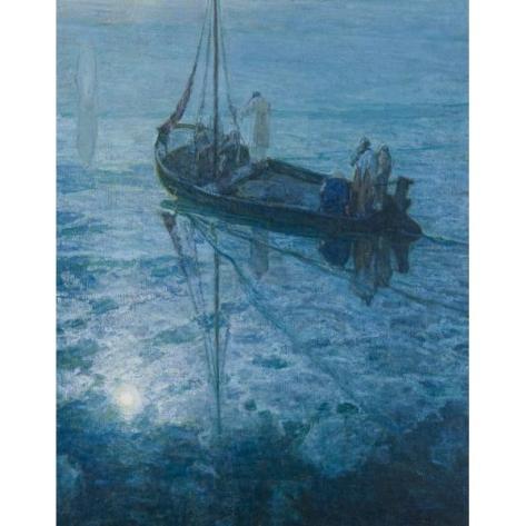 henry ossawa tanner-los discípulos ven a cristo caminar sobre el agua