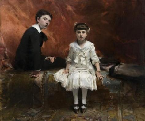 john singer sargent-retrato de edouard y marie louise pailleron