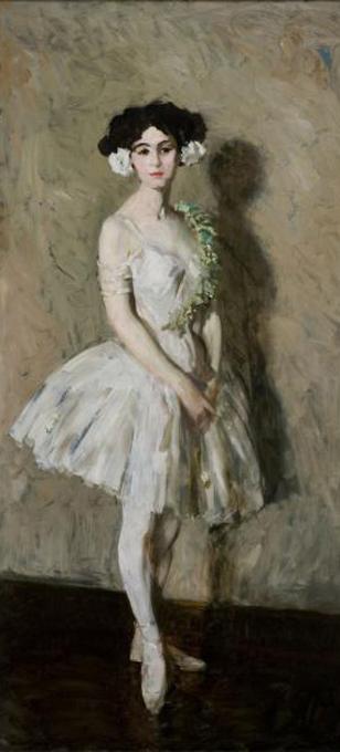 robert henri-chica de ballet en blanco