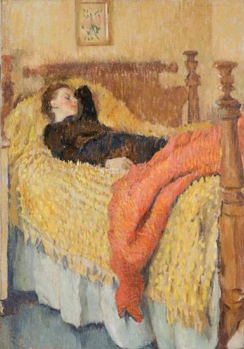 lilian wecott hale-mujer descansando