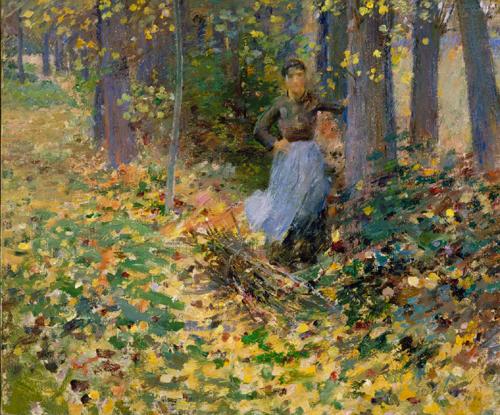 theodore robinson-la luz del sol en otoño